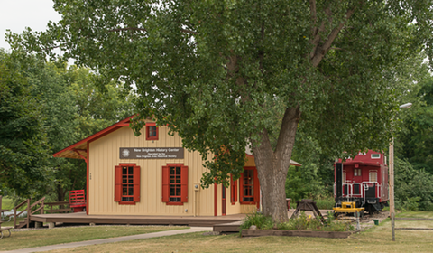 The recently refurbished depot was converted into the History Center with many railroad artifacts.