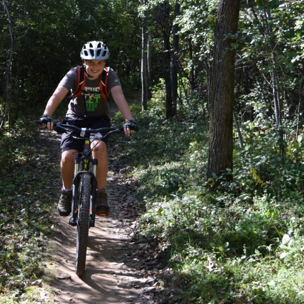 The trails of Lebanon Hills offer some of the most enjoyable mountain biking in the Twin Cities Area.