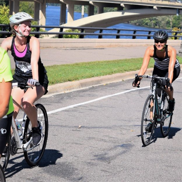 Another fun day to ride the Minnesota section of the Mississippi River Trail on this picture perfect Wednesday as these biker chicks discover.