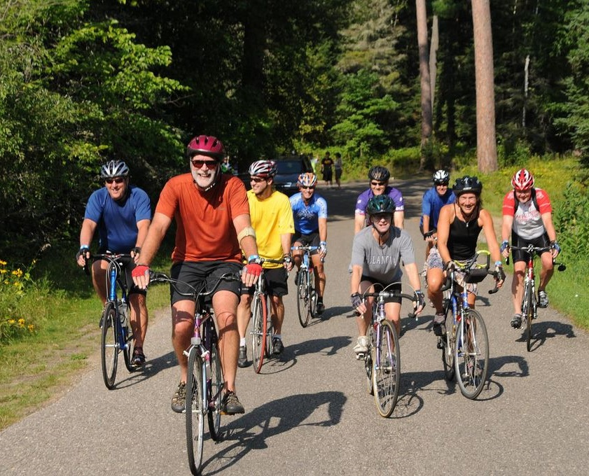 The Tour de Pines, this Saturday is a great place to meet new friends at the Headwaters of the Mississippi.