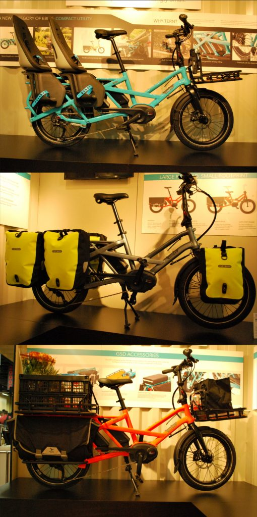 Several options for accessories for the GSD folding bike