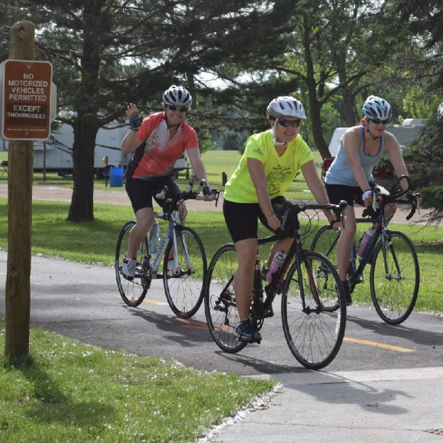 The trails are scenic and fun in Minnesota's Hometown feel community, Hutchinson.