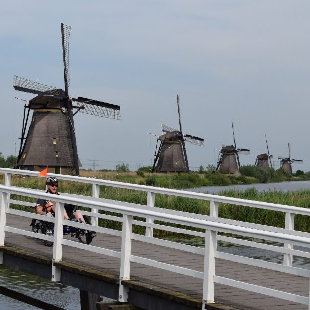 It is fun to take a European bike vacation to explore the Netherlands and their 100's of bicycle routes that follow the picturesque canals and rivers there.