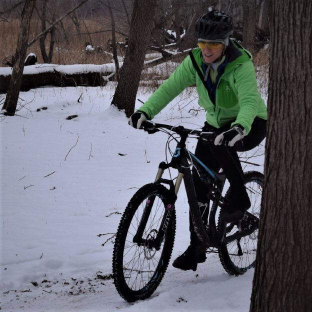 Is mountain biking in the snow season really here in the upper Midwest?