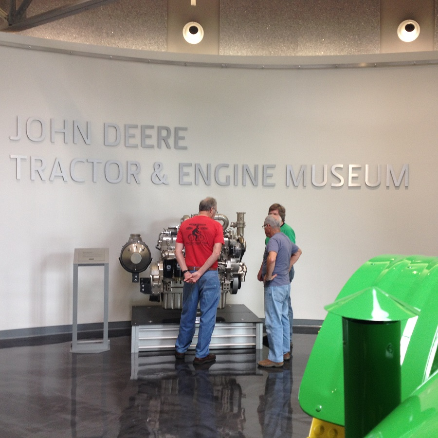 The John Deere Museum offers many example of agricultural history, from household appliances to early farm equipment.