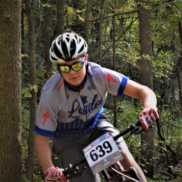 Fond memories for this young mountain biker on the Jail Trail competing on the Mankato High School team of the Minnesota High School Cycling League.