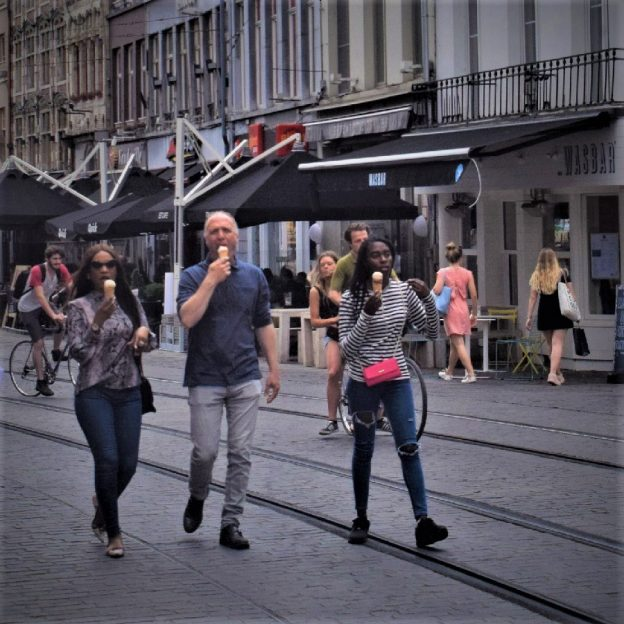 Its Ice Cream Smiles Sunday and here in the Netherlands these bikers enjoy a cool treat with their friends in Amsterdam
