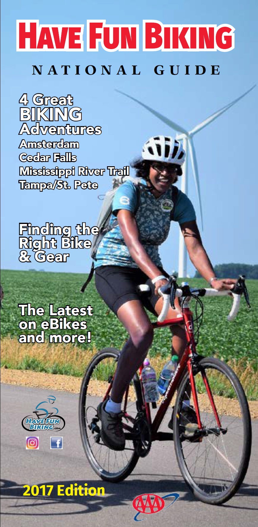 This new national bicycle guide offers bicyclists of all levels easily access the latest information onplaces to ride a bike, helpful tips and more.