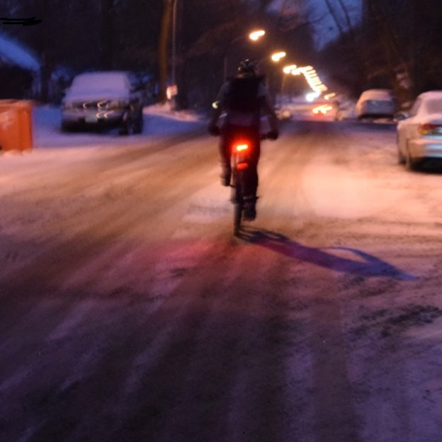 Winter's icy grip can be an unforgivable time for bicyclists riding without studded tires. We enjoy the solitude of winter riding and the added fitness it offers, but as rain or snow turns to ice real dangers abound.