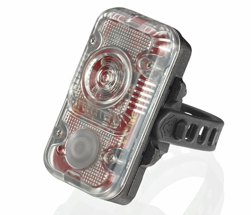 """Rotllicht """"red light"""" off the bike is great for visibility."""