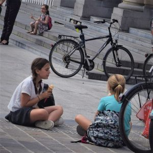 Its ice cream smiles Sunday around the world and here in the Netherlands these young bikers are enjoy a cool treat before they continue their ride along the canals in Amsterdam.