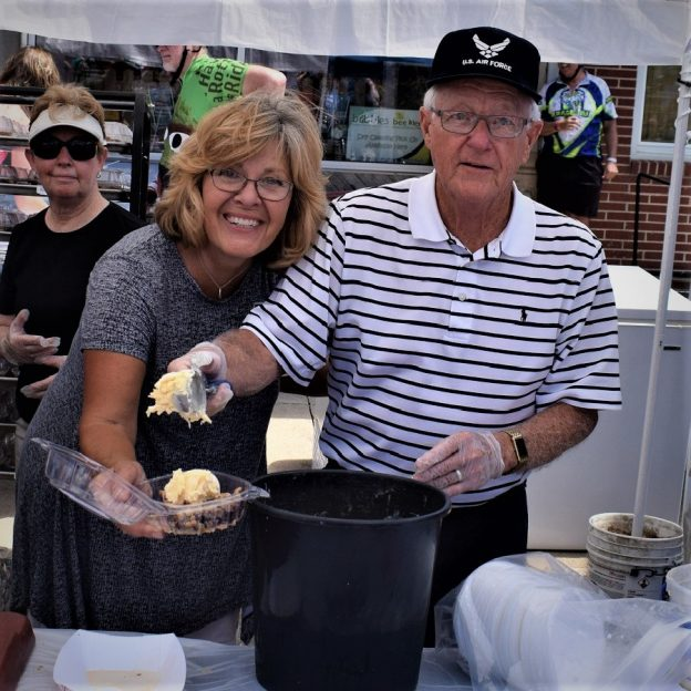 Pie, with a lot of ice cream, served along the bike route is one of the many annual traditions cyclists enjoy on the Register's Annual Great Bicycle Ride Across Iowa (RAGBRAI).