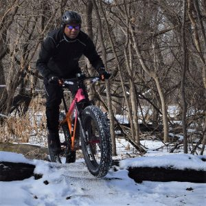 The fat bike trails loops in Split Rock Lighthouse State are fun.