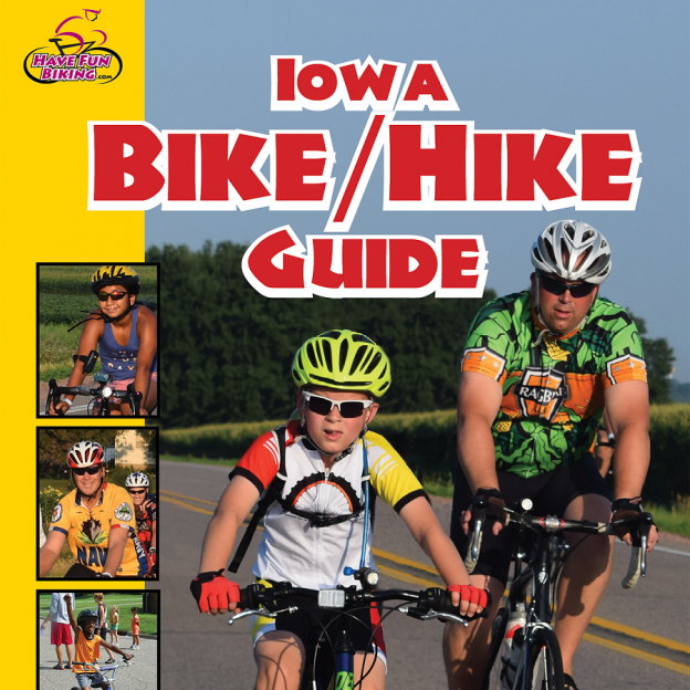 The inaugural Iowa Bike Guide cover you can pick up at the Bike Expo, in Des Moines this Saturday.
