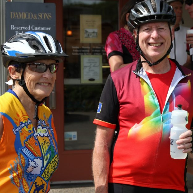 Fond summer memories were enjoyed by this biker couple on the 4th of July Tour D'Amico Bicycle Tour last year summer. This year's 19th annual tour offers several new scenic routes through the Twin Cities western suburbs.