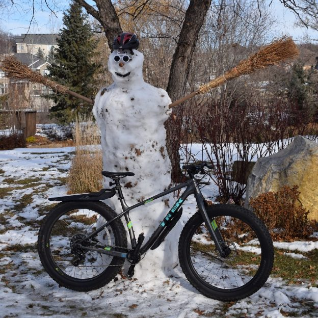 It's Friday and HaveFunBiking George will soon melt away as the spring thaw approached,