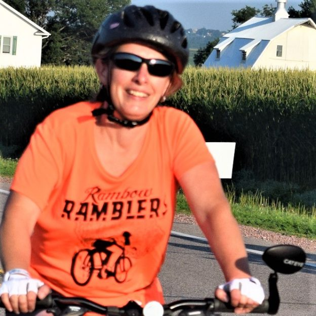 Yeah its Thursday and the twenty-six day of #30 days of biking. After your ride why not get together with friends and plan that next bike adventure in the months ahead. Here in this photo we caught this biker biker chick pedaling the country roads on an invigorating ride.