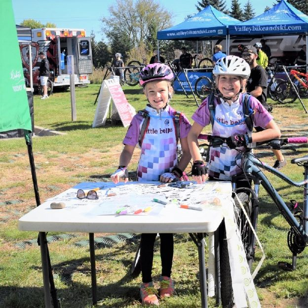 A quick flashback to warmer times on #14 of #30DaysofBiking in April. Here in this fond memories pic these young biker chicks enjoy some time at one of Minnesota's trails for the annual Wild Ride Mountain Bike Festival, in Lebanon Park.