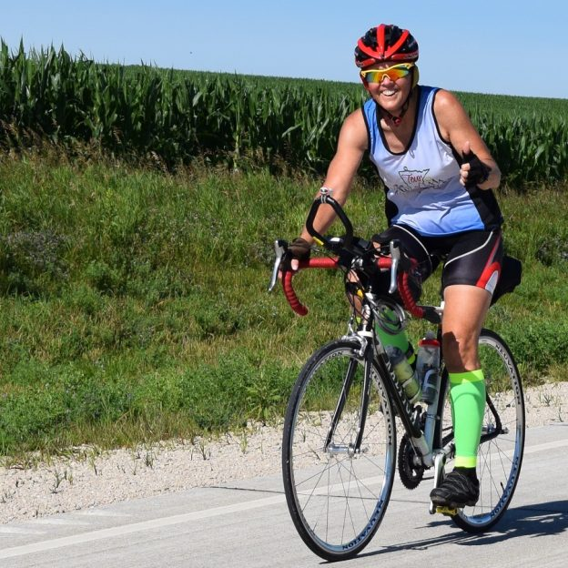 Yeah its Friday and the twenty-seventh day of #30 days of biking. After your ride why not get together with friends and plan that next bike adventure in the months ahead. Here in this photo we caught this biker biker chick pedaling the country roads in Minnesota's Bluff Country.