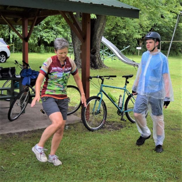 With the sun shining  and air temperature on the rise this #30 Days of Biking morning do a little dance after your ride today. Nasty weather is predicted to be on its way, so enjoy!