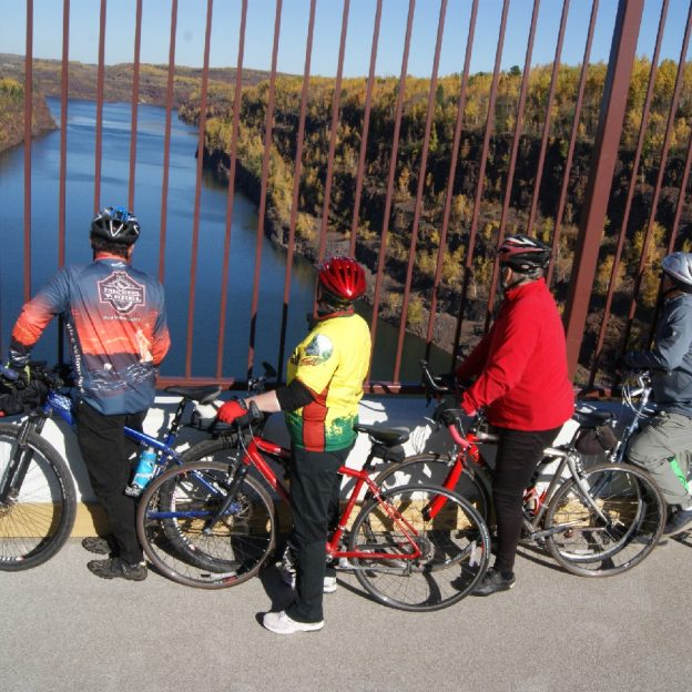 The view is stunning as you cross over the Rouchleau Pit, between Virginia and Gilbert, MN.