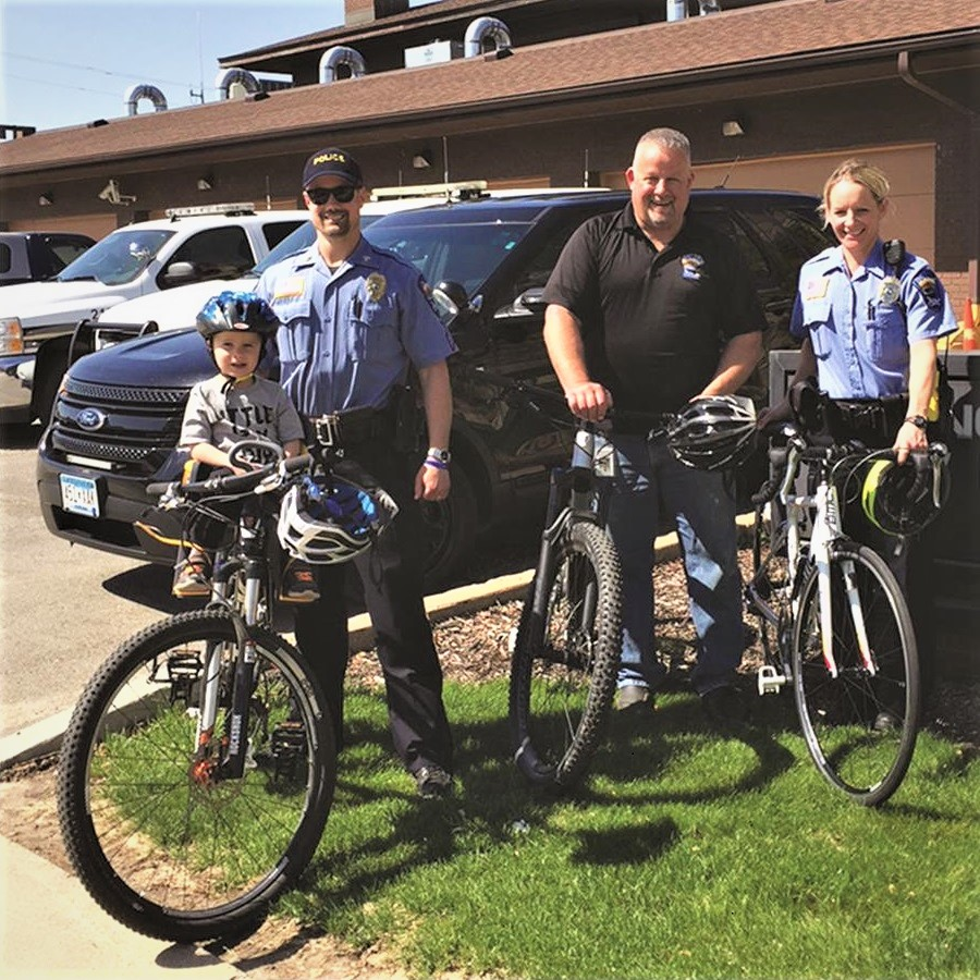 Many of the Winona Police Department staff are avid cyclists.