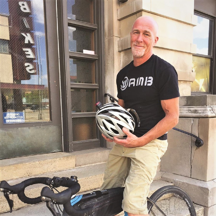 Sheldon commutes 20-mile round trip with his everyday bike.