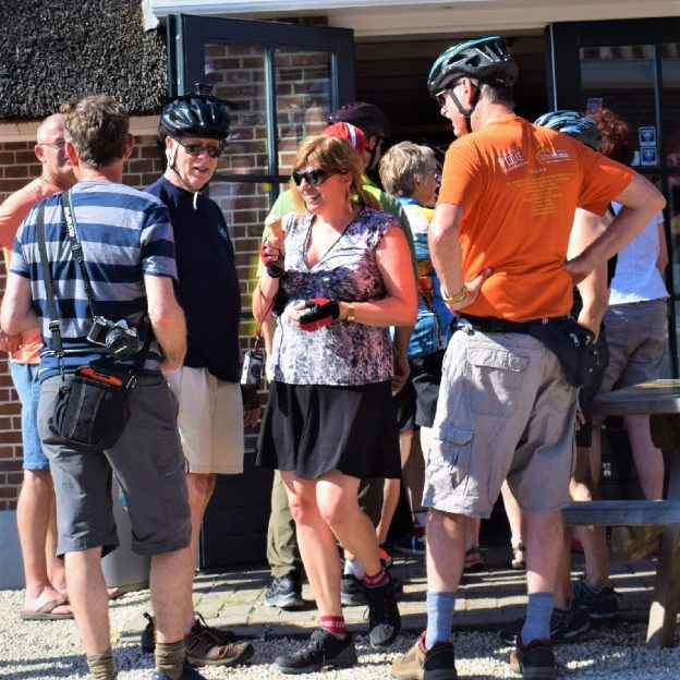 On this ice cream smiles Sunday, we look back to this group of cyclists in the Netherlands who have stopped in a small town along the canal to enjoy a cool sweet treat.