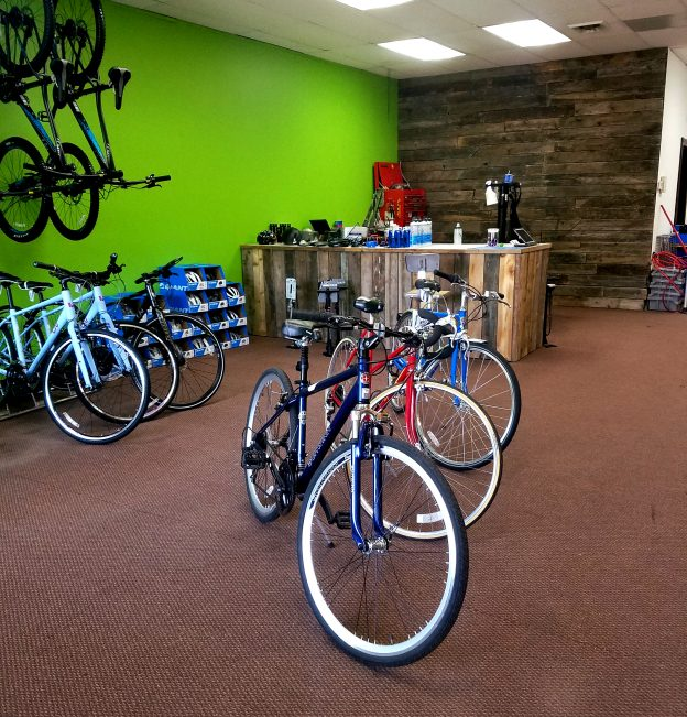 Brown's Bicycles service area/teaching center