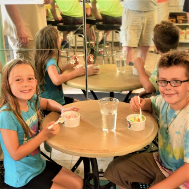 On this Bike Pic Sunday,, selecting the right ice cream treat is sometimes hard to do. Here these siblings on a family bike outing found their special flavors to enjoy and stay cool.