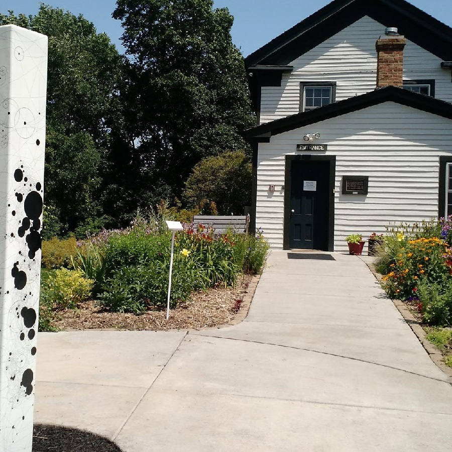 ENJOY THE BEAUTIFUL GARDEN AS YOU ENTER THE BANFILL-LOCKE CENTER FOR THE ART IN FRIDLEY.