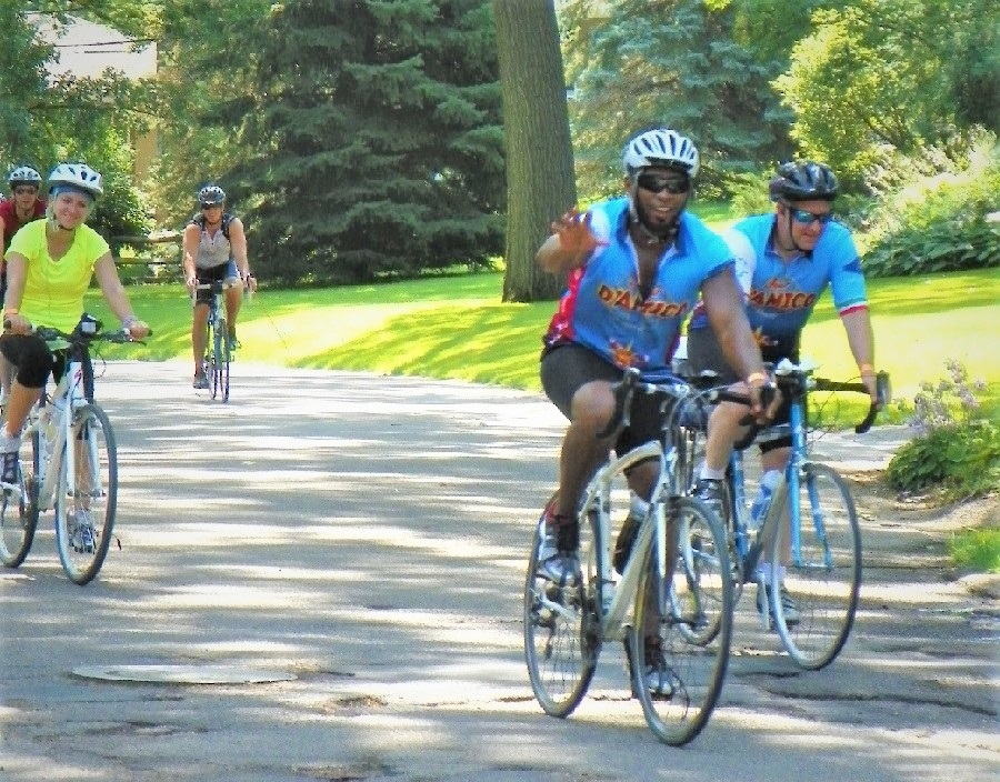 If you are in the Twin Cities, what a fun way to spend the early part of your 4th of July, then the Tour D'Amico (TDA) bike ride.