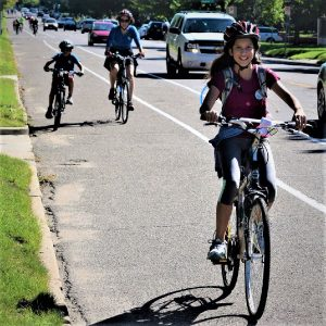 Here is today's bike pic on this beautiful Tuesday,with this young biker chick enjoying an outing riding in St Paul, Minnesota. along the Mississippi River Trail.