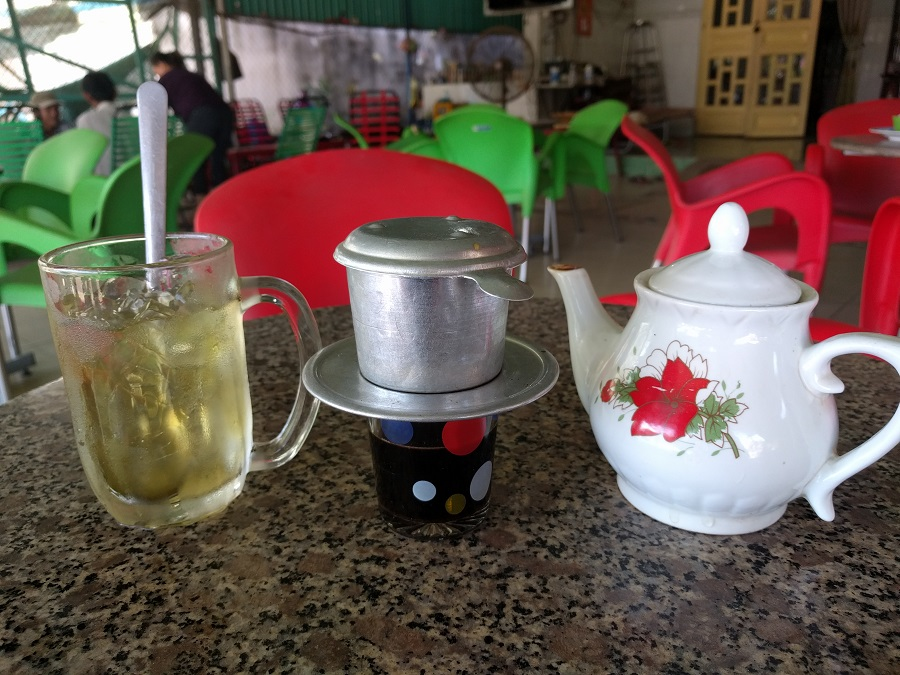 With every Vietnamese coffee comes a side of iced green tea