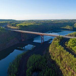 The Mesabi Trail now crosses over Minnesota's tallest bridge.