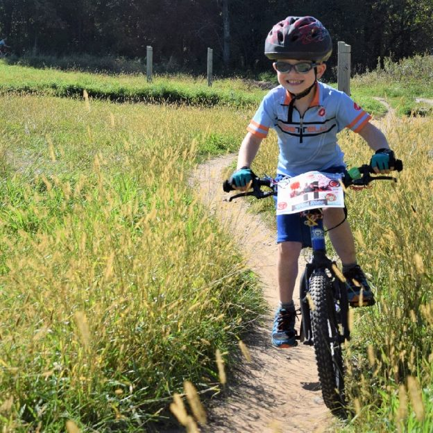 Its Tuesday and another perfect day to be out on a mountain bike trail. Here we found little biker dude out on the trail in Lebanon Hills Regional Park, near Lakeville, MN.