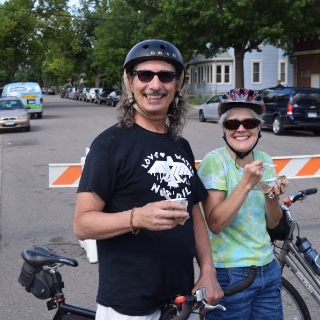 On this Bike Pic Sunday, enjoying some Ben & Jerry's Ice cream along the bike route is the right thing to do.