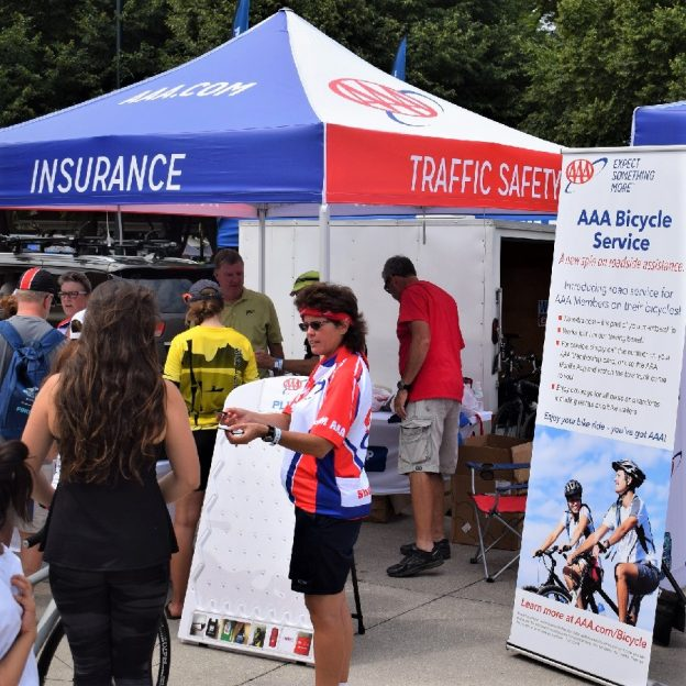 In todays bike pic, AAA is showing the Bike Benefits program at RAGBRAI's Expo today in Onowa, IA. What better way to continue your summer fun and your #NextBikeAdventure.