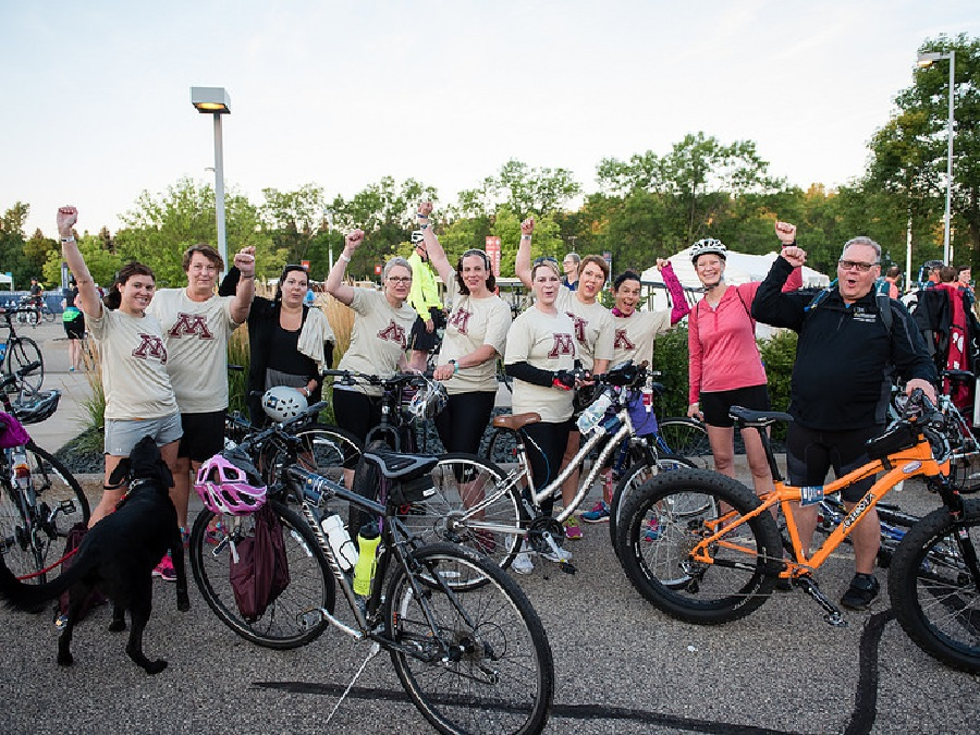 A cheerful team of riders on Chainbreaker 17 celebrated the success of the events first year