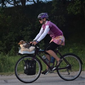 This Bike Pic Saturday we found this biker chick having fun, creating memories, riding across Iowa a with her favorite buddy, couple weeks ago.
