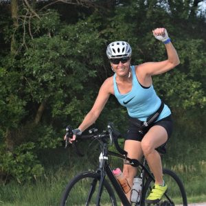 This Bike Pic Friday we are showing you another biker chick having fun and making memories, riding across Iowa a couple weeks ago.