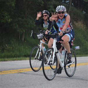 On this Friday these biker chicks are having fun and making memories, riding across Iowa last week. Along the way it seems everyone had a good time, see more photos at RAGBRAI 2018.