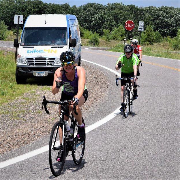 It's bike pic Tuesday and these riders are having fun on the Mississippi River Trail (MRT) with the Bicycle Alliance of Minnesota (BikeMN) watching over. Come out and support their advocacy and educational efforts with the 24th Annual St Paul Bicycle Classic coming September 9th.
