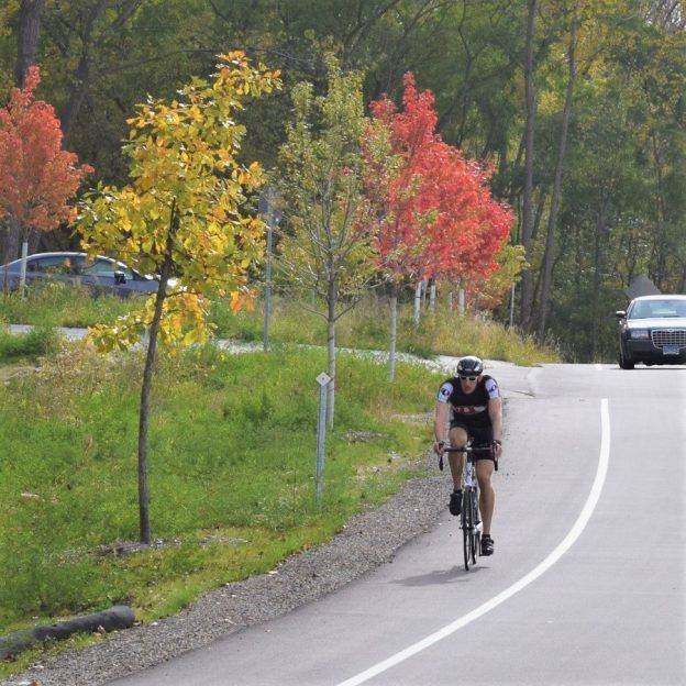 Here in this bike pic Tuesday reports are coming in that colors are beginning to peak up in northern Minnesota along the Canadian Border.