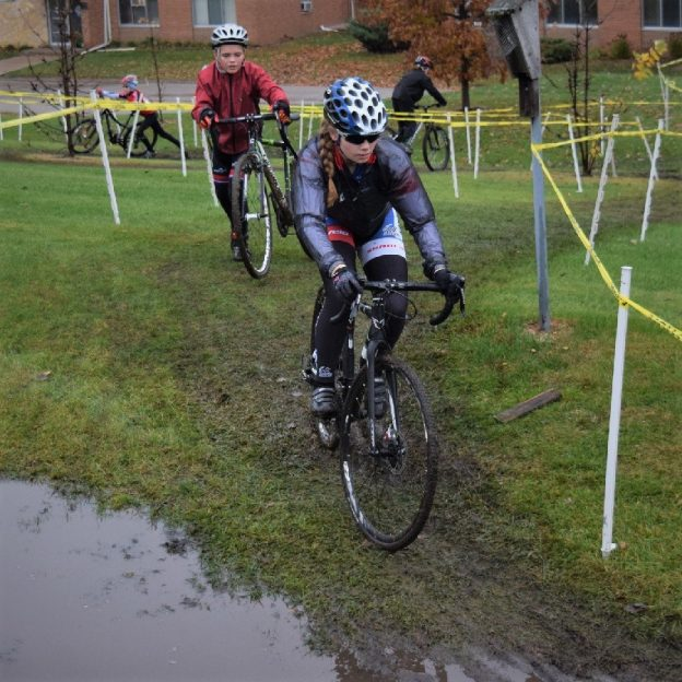 It looks like a wet bike pic Tuesday here in the upper Midwest as cyclocross races move into the fall season. Here in this photo, we dug up a picture of a couple biker chicks enduring the wet weather and a muddy race course in Mendota Heights, MN.