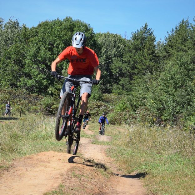 A bike pic to remember! This Wheelie Wednesday photo was taken this fall in Lebanon Hills Park, home of the Wild Ride  Mountain Bike Festival, September 22nd.