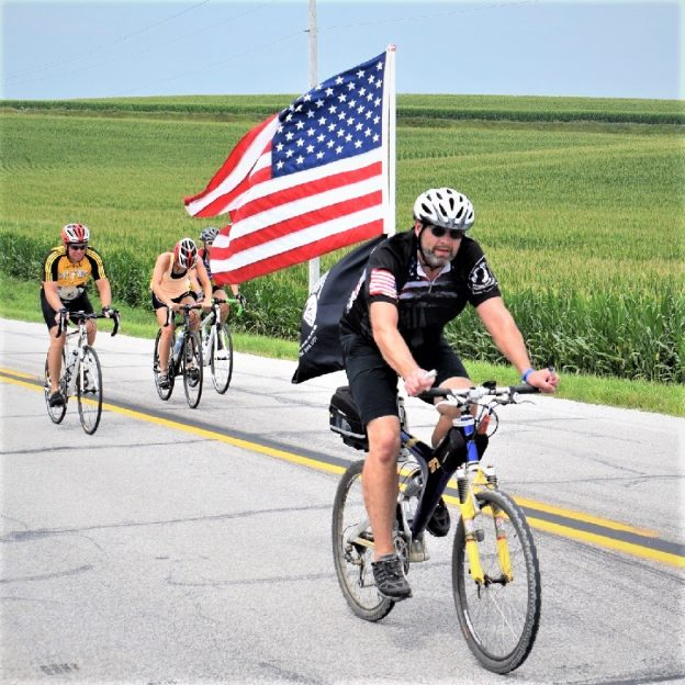This Bike Pic Sunday, VeteransDay, we at want to honor those who have served in the military to keep our freedomintact. This photo was taken this last summer on the ride across Iowa, RAGBRAI.