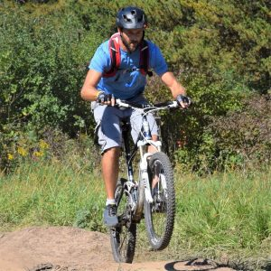 A bike pic to remember! This Wheelie Wednesday photo was taken this fall in Lebanon Hills Park, home of theWild Ride Mountain Bike Festival,September 22nd.