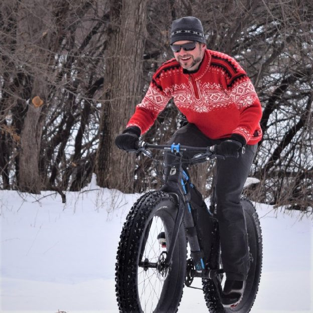 This Bike Pic Saturday, dig out your favorite Christmas sweater and take a fat bike out for a spin. It's a great way to bring in the holidays, even if there is not a lot of snow yet.