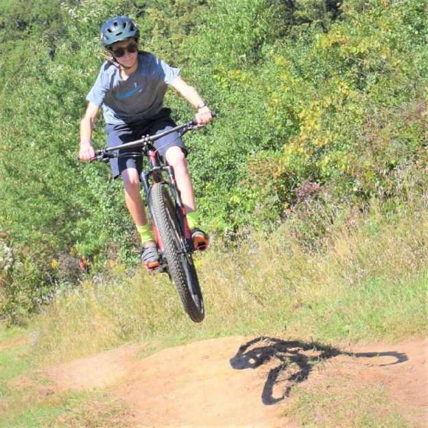 A bike pic to remember! This Wheelie Wednesday photo was taken this fall in Lebanon Hills Park, home of the Wild Ride Mountain Bike Festival.
